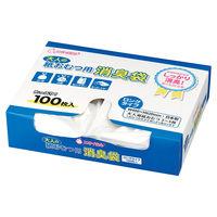 マルアイ 大人の紙おむつ用消臭袋 レジ袋型 縦620×横220mm 1箱(100枚入)