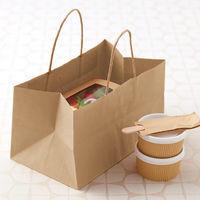 丸紅紙パルプ販売 丸紐 クラフト紙手提げ袋 ベーシックタイプ「ZUNGURI」(幅300×高さ175×マチ幅180mm) 1箱(200枚:50枚入×4袋)【紙袋