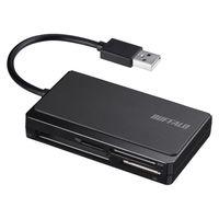 バッファロー カードリーダー BSCR300U2BK USB2.0 マルチカードリーダー ケーブル収納モデル