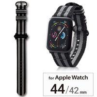 エレコム Apple Watch 44/42mm/ファブリックバンド/ボンドストライプ AW-44BDNATSJB 1個(直送品)