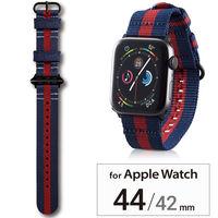 エレコム Apple Watch 44/42mm/ファブリックバンド/レガッタストライプ AW-44BDNATSRG 1個(直送品)