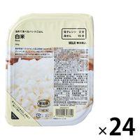 無印良品 温めて食べるパックごはん 白米 1箱(24袋入) 02793609 良品計画