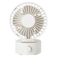 無印良品 USBデスクファン(低騒音ファン) ホワイト/型番MJ-9ZF013CZ03 82150476 良品計画