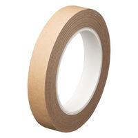 オカモト クラフトテープ 紙粘着テープ 幅18mm×50m巻 茶(クリーム) 1パック(5巻入)