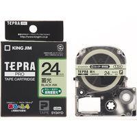 テプラ PRO用テープカートリッジ 蓄光ラベル SY24YD [黒文字 24mm×1.5m]