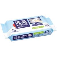 アイリスオーヤマ OA機器/液晶画面 両用 除菌クリーナー 詰め替えシート(40枚入) OWT-NT40 1個