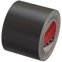 【ガムテープ】寺岡製作所 布テープ カラーオリーブテープ 黒 幅100mm×25m巻 1セット(5巻入)