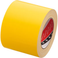 【ガムテープ】寺岡製作所 布テープ カラーオリーブテープ 黄 幅100mm×25m巻 1箱(18巻入)