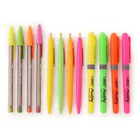 LOHACO限定ボールペンセット ネオン(クリックゴールド4本+単色ボールペン4色+蛍光ペン4色) LHASSET12 BICジャパン