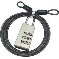 TTC コンサイス ワイヤー付ダイヤル錠 PL373W シルバー 526421(直送品)