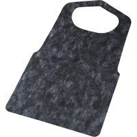不織布使い捨てエプロン ブラック CE-B 1セット(2000枚)(直送品)