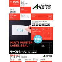 エーワン ラベルシール 強粘着タイプ プリンタ兼用 マット紙 白 A4 10面 1袋(100シート入)78510(取寄品)
