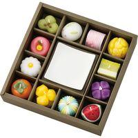 カメヤマ 和菓子型キャンドル・皿セット T9626-00-00 ギフト包装 (直送品)