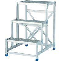 アルインコ(ALINCO) アルインコ 作業台(天板縞板タイプ)4段 CSBC4128S 1個 443-9970(直送品)