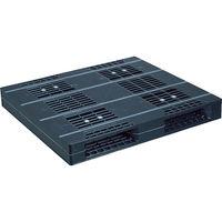 日本プラパレット NPC プラスチックパレットZR-110120E-RR 両面二方差し 黒 ZR-110120E-RR-BK 1枚 463-5086(直送品)
