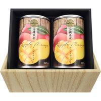 琉堂 沖縄県産アップルマンゴー缶詰2缶入り ギフトセット(直送品)