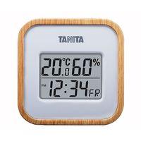 タニタ デジタル温湿度計 ナチュラル TT-571 1個 62-9774-30(直送品)