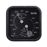 タニタ(TANITA) 温湿度計(アナログ) ブラック TT-570 1個 62-9774-33(直送品)