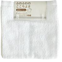 林 ハンドタオル ふんわり無撚糸 リブカラー ホワイト(白) WJ424510 1セット(30枚)(直送品)