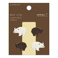デザインフィル ミニクリップ クマ柄 4個入×3パック 43314006(直送品)