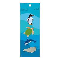 デザインフィル マグネットクリップ 水族館柄 4個入×2パック 43328006(直送品)