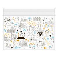 デザインフィル ジッパーバッグ <B6> ストックホルム柄 55471006 3枚 (直送品)