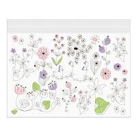 デザインフィル ジッパーバッグ <B5> 55474006 小花柄 15枚入 3箱(直送品)
