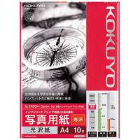 コクヨ  IJP光沢紙A4・10枚 KJーG14A4ー10 1セット(100枚:10枚×10袋) (直送品)