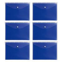 コクヨ ホルダーインケース5山仕切り付10枚青 K2フー7705B 1セット(6冊)(直送品)