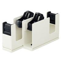 コクヨ テープカッター <カルカット> (2連タイプ) ライトグレー T-SM110LM 1セット(2台)(直送品)