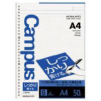 コクヨ キャンパス ルーズリーフ A4 30穴 しっかり書 ノ-S816B 1セット(500枚:50枚×10冊)(直送品)