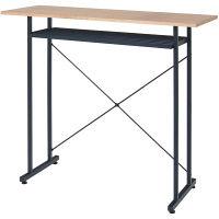 ヤマソロ TAO カウンターテーブル ナチュラル/ダークグリーン 幅1100×奥行400×高さ950mm 1台 (直送品)