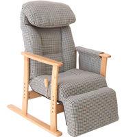 ヤマソロ 梢 フットレスト付高座椅子 ナチュラル脚 1台 (直送品)