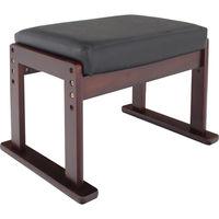 ヤマソロ 高座椅子対応オットマンスツールレザー ブラックレザー 1台 (直送品)