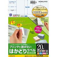 コクヨ(KOKUYO) プリンタを選ばないはかどりラベル A4 20面 100枚入り KPC-E1201-100 1袋(100シート入)(直送品)