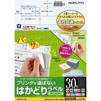 コクヨ(KOKUYO) プリンタを選ばないはかどりラベル A4 30面 22枚入り KPC-E1301-20 1セット(110枚:22枚入×5袋)(直送品)