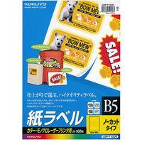 コクヨ(KOKUYO) LBP用紙ラベル(カラー&モノクロ対応) B5 100枚入 ノーカット LBP-F150N 1袋(100シート入)(直送品)