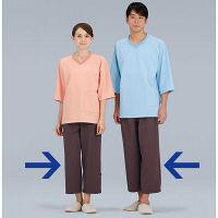KAZEN ニット検診衣パンツ (検査着 患者衣) ブラウン LL 293-33 (直送品)