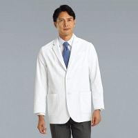 KAZEN メンズブレザー KZN111-40 ホワイト L 医療白衣 1枚 (直送品)