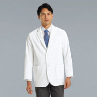 KAZEN メンズブレザー 医療白衣 長袖 ホワイト シングル LL KZN111-40 (直送品)