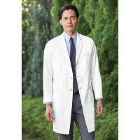 KAZEN メンズ診察衣 医療白衣 長袖 ホワイト シングル L KZN210-10 (直送品)