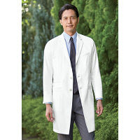 KAZEN メンズ診察衣 医療白衣 長袖 ホワイト シングル LL KZN210-10 (直送品)