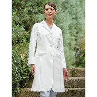 KAZEN レディス診察衣 KZN410-10 ホワイト LL 医療白衣 1枚 (直送品)