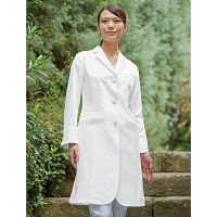 KAZEN レディス診察衣 KZN410-10 ホワイト 3L 医療白衣 1枚 (直送品)