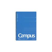 コクヨ キャンパス ツインリングノート PP表紙 セミB5(6号) 罫幅7mm 40枚 青 ス-T205A-B 1セット(280枚:40枚入×7冊)(直送品)