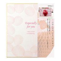 カラー色紙 二つ折り ハニカム 花束柄 33208006 デザインフィル (直送品)