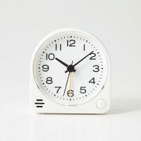 アナログ目覚まし時計 置時計・ホワイト