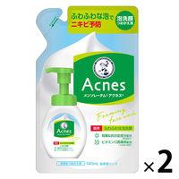 メンソレータム アクネス 薬用ふわふわな洗顔料 詰替 140mL×2個 ロート製薬