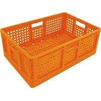 安全興業 折りたたみコンテナ 10個 オレンジ 4560172725690-10 1箱(10個入)(直送品)