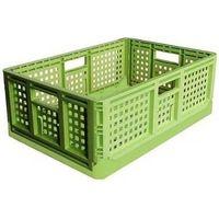 安全興業 折りたたみコンテナ 10個 薄緑 4560172725829-10 1箱(10個入)(直送品)